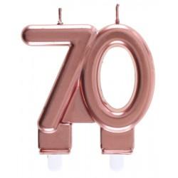70-es Születésnapi Tortagyertya Rosegold Színű