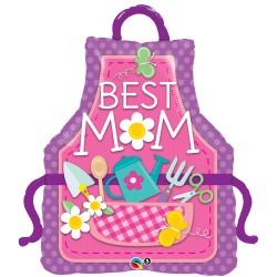 Anyák napi lufi best mom felirattal
