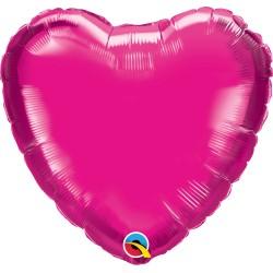Magenta rózsaszín héliumos fólia lufi
