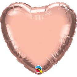 Rózsaarany - Rosegold héliumos fólia lufi