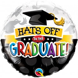 Ballagási Héliumos Fólia Lufi - Hats Off To The Graduate felirattal - 46 cm