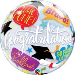 Ballagási graduation bubbles lufi 56 cm-es