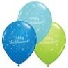 11 inch-es Boldog Születésnapot Shining Star Szülinapi Lufi Fiús Színekben
