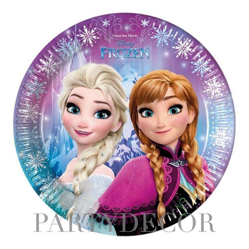 Jégvarázs - Frozen Északi Fény Parti Tányér - 23 cm, 8 db-os