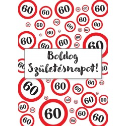 60. Születésnapi üveg címke sebességkorlátozós 2 db-os