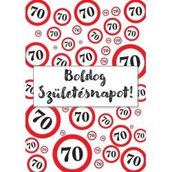 70. Születésnapi üveg címke sebességkorlátozós 2 db-os