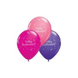 Boldog Születésnapot Shining Star Szülinapi Lufi Lányos Színekben 6 db