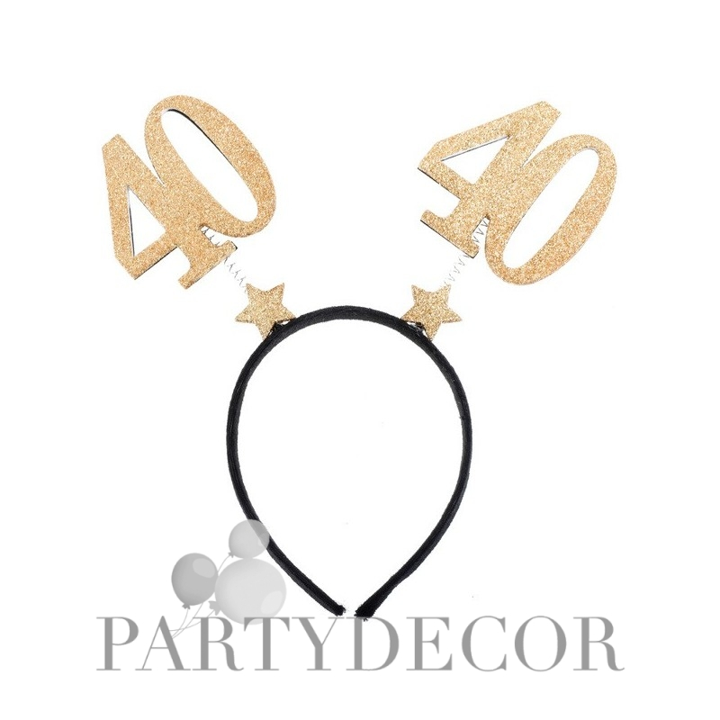 40-es Parti Fejdísz Arany Glitteres