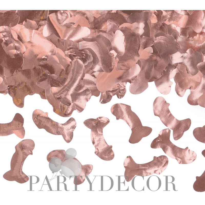 Lánybúcsúra Rosegold Fütyis konfetti