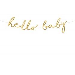 Hello Baby Babaváró füzér arany színű