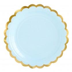 Babakék - arany party tányér 6 db-os, 18 cm-es