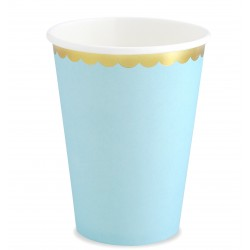 Babakék - arany party pohár 6 db-os 220 ml-es