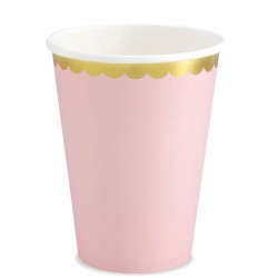 Babarózsaszín - arany party pohár