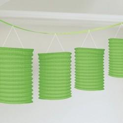 Zöld Lampionfüzér Függő Dekoráció - 3,6 m