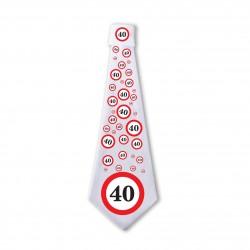 40. Sebességkorlátozós Születésnapi Nyakkendő