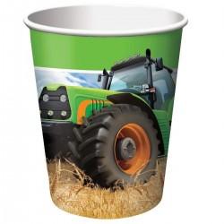 Traktoros szülinapi parti pohár