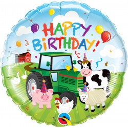18 inch-es Farm Állatos - Birthday Barnyard  Farm Szülinapi Fólia Lufi