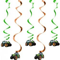 Traktoros szülinapi spirális dekoráció