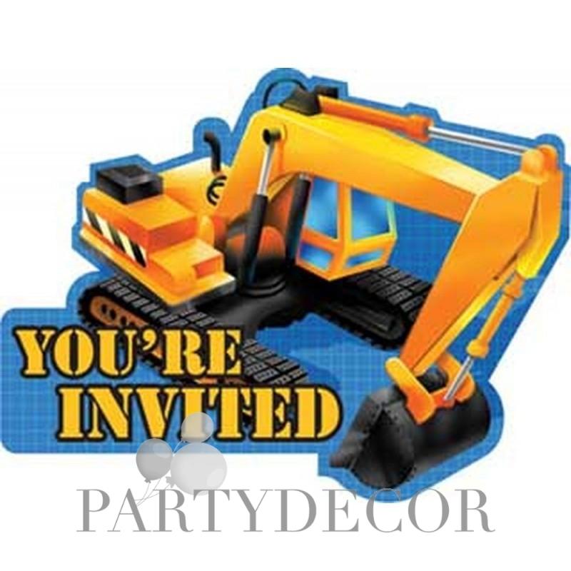 Munkagépek party meghívó