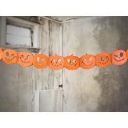 Tökfejek papír füzér Halloweenre