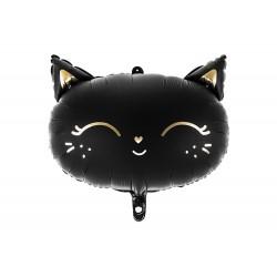 Fekete cica fólia lufi