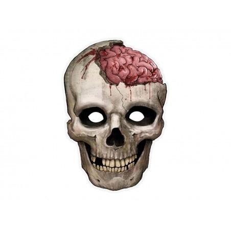 Koponya parti papír maszk Halloweenre