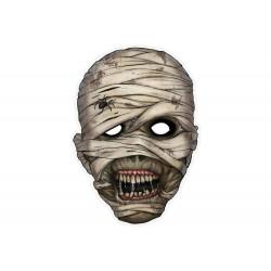 Múmia parti papír maszk Halloweenre