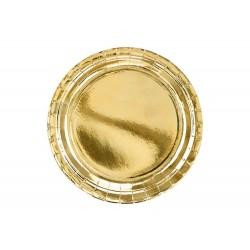 Arany papír parti tányér