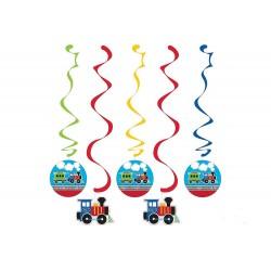 Vonatos születésnapi parti függő dekoráció