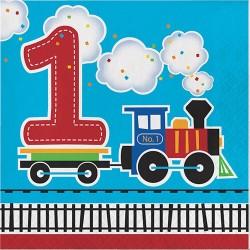Vonatos 1. születésnapi parti szalvéta