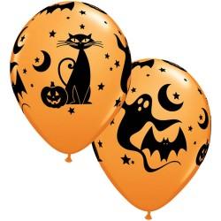 Halloween Mintás Lufi