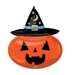 Boszis Tökfejes Fólia Lufi Halloweenre