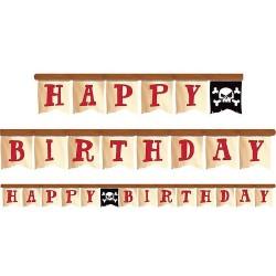 Kalózos szülinapi party Happy Birthday füzér