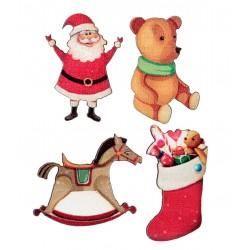 Karácsonyi konfetti válogatás fából