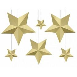 Arany Dekorációs csillagok szettben