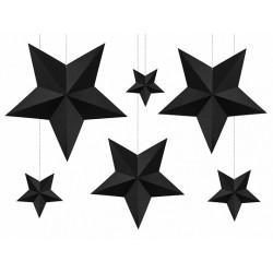 Fekete Dekorációs csillagok szettben