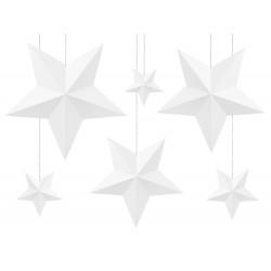Fehér Dekorációs csillagok szettben