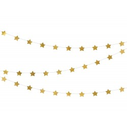 Arany csillagos girland 3,6 m