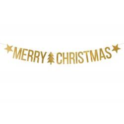 Merry Xmas dekorációs felirat arany színű