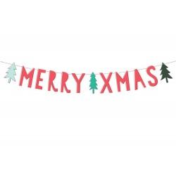 Merry Xmas feliratú party banner