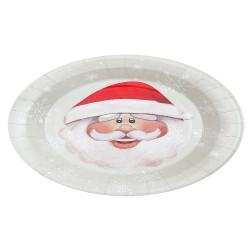 Karácsonyi parti tányér Mikulás mintával