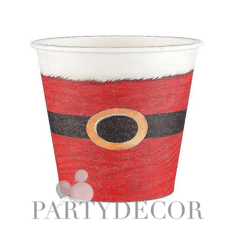 Karácsonyi parti pohár Mikulás mintával