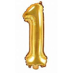 1-es Arany szám fólia lufi