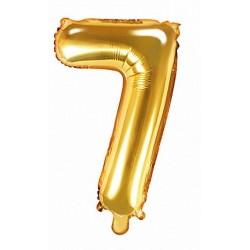 7-es Arany szám fólia lufi