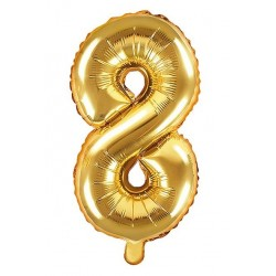 8-as Arany szám fólia lufi