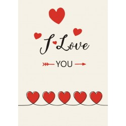 I Love You Szíves Üveg Címke
