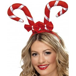 cukorbot alakú fejdísz masnival karácsonyra