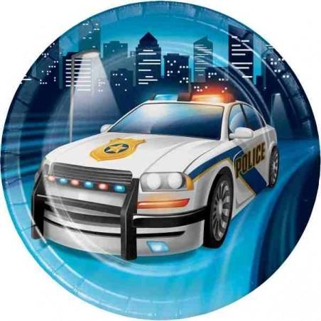 Rendőr - Police parti tányér
