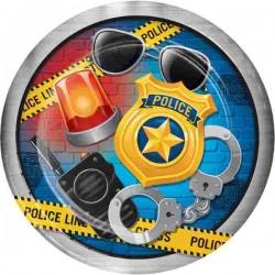 Rendőr Police Parti Tányér 22 cm