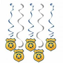 Rendőr - Police Parti Spirális Függő Dísz